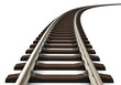 Curved railroad track - 39081447