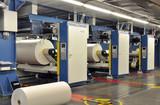 Fototapety Druckmaschinen mit Papierrollen // printing press