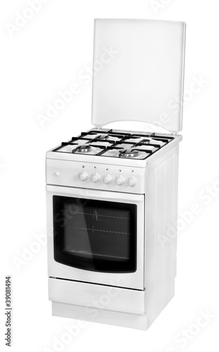 White gas cooker isolated