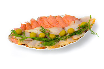 plate  of fish cuts