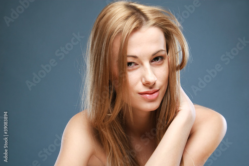 Close-up portrait of beautiful girl