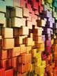 Rainbow wall 3d