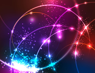 Sparkly Abstract Background.