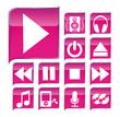 Pink kit of Music Icons