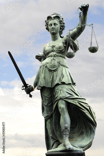 Leinwanddruck Bild Justitia