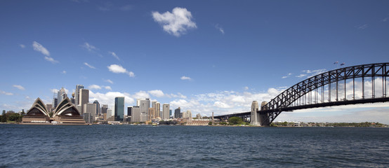Sydney Harbour Bridge and downtown