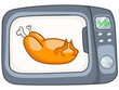 Cartoon Home Kitchen Microwave