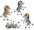 funny cartoon he-zebras