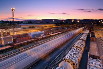 Cargo transportatio with Trains and Railways