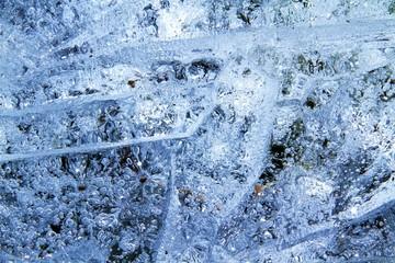 Eisblumen im Eis