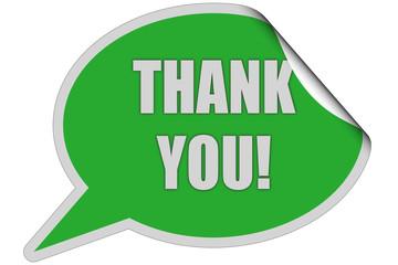 SP-Sticker grün THANK YOU!
