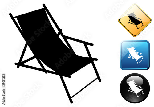 Deck chair pictogram and signs