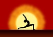 Yoga Sunrise Silhouette Background