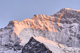 Jungfrau shoulder in twilight