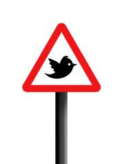 Social network warning sign