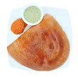 Golden masala dosa with two different chutneys