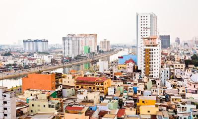 Saigon on humid and smoggy day