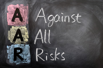 Acronym of AAR for Against All Risks