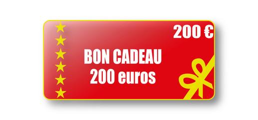 Bon cadeau de 200 euros
