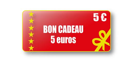 Bon cadeau de 5 euros