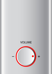 Background with volume knob
