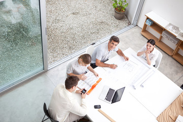 Architects at a meeting