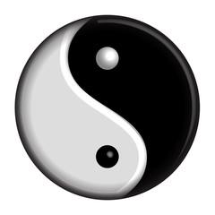 Yin Yang vector isolated symbol