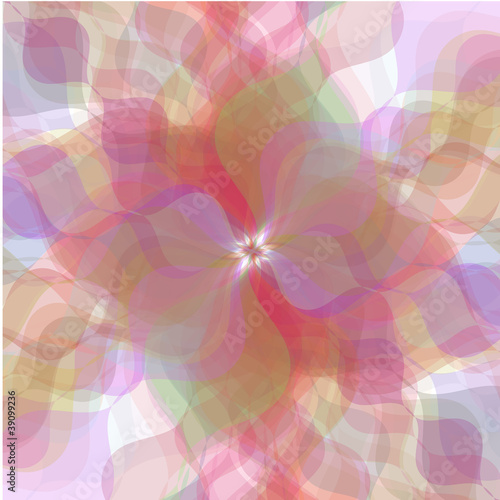 Retro multicolored pastel flowers background