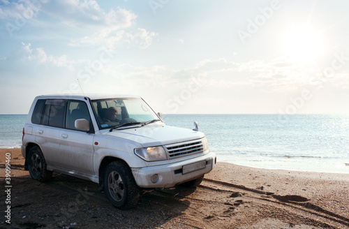 off-road vehicle on the beach
