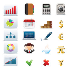 Set of 20 business icons