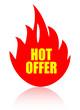 Hot offer vector sign