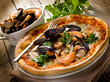 pizza with seafood- pizza frutti di mare
