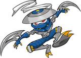 Ninja Warrior Vector Illustration