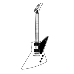 white metal guitar