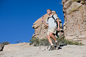 Healthy Mature Man Hiking