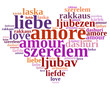 Coeur mots d'amour
