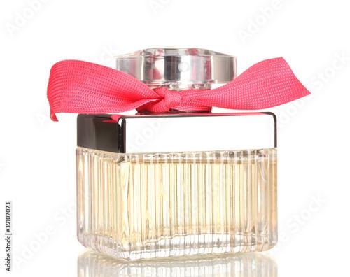 Perfume bottle isolated on white