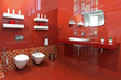 Bathroom red