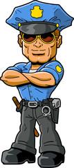 tough policeman