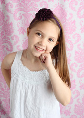 Cute young girl smiling