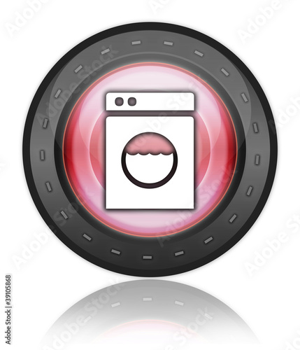 "Red Industrial Style Icon ""Laundromat"""