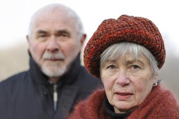 Depressed Senior Couple 7