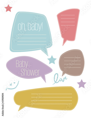 Baby Text Bubbles
