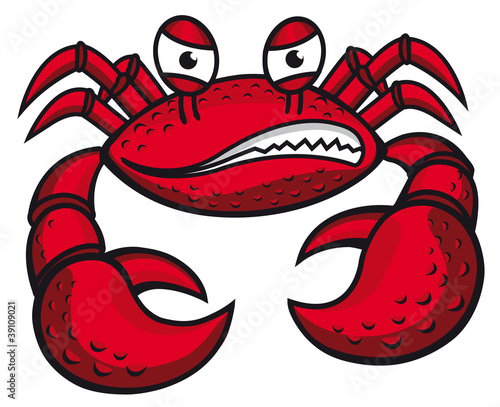 Angry crab with claws - 39109021