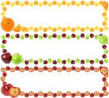 Colorful fruit frames