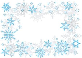 rahmen schnee und sterne