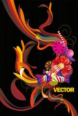 composicion de formas abstractas en vector