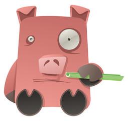 Strange Pig