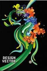 ilustracion abstracta en vector