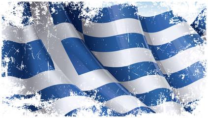 Grunge Greek Flag